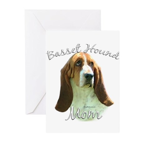 Basset Mom2 Greeting Cards (Pk of 10)