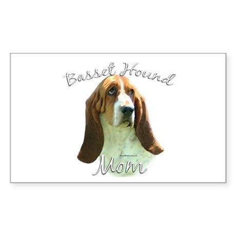 Basset Mom2 Rectangle Sticker