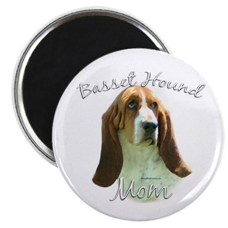 Basset Mom2 Magnet
