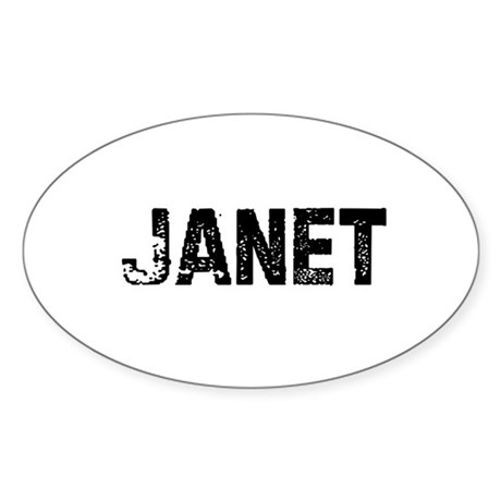 Janet Oval Sticker