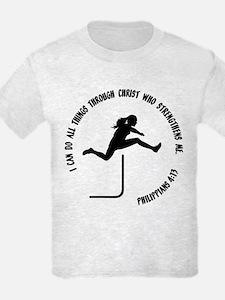 HURDLES - PHIL.4:13 T-Shirt