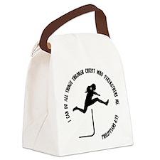 HURDLES - PHIL.4:13 Canvas Lunch Bag