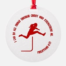 HURDLES - PHIL.4:13 Ornament