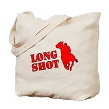 Long shot. Horse racing. Tote Bag