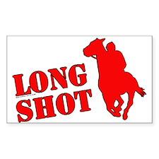 Long shot. Horse racing. Rectangle Decal