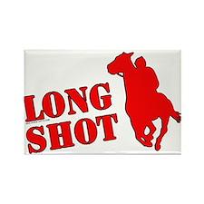 Long shot. Horse racing. Rectangle Magnet
