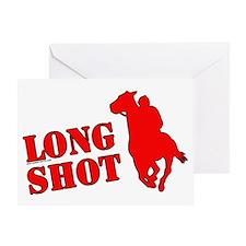 Long shot. Horse racing. Greeting Card