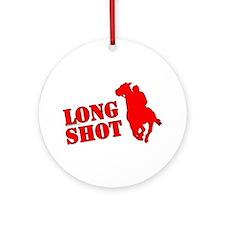 Long shot. Horse racing. Ornament (Round)