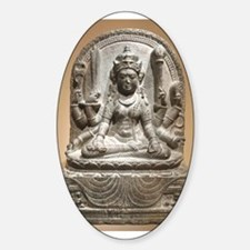 Meditating Female Diety Warrior Decal