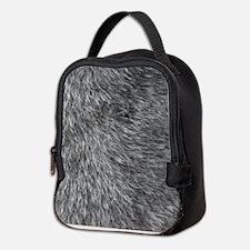 GREY WOLF FUR Neoprene Lunch Bag