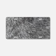 GREY WOLF FUR Aluminum License Plate
