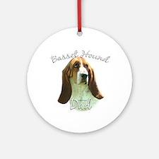 Basset Dad2 Ornament (Round)