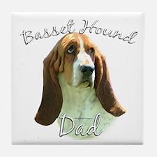 Basset Dad2 Tile Coaster