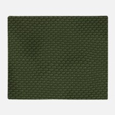 GREEN REPTILE SKIN Throw Blanket