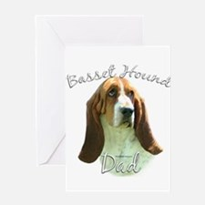 Basset Dad2 Greeting Card