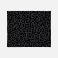 BLACK LEOPARD PRINT Throw Blanket