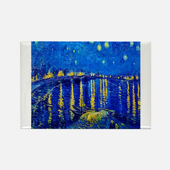 Van Gogh Starry Night Over Rhone Magnets
