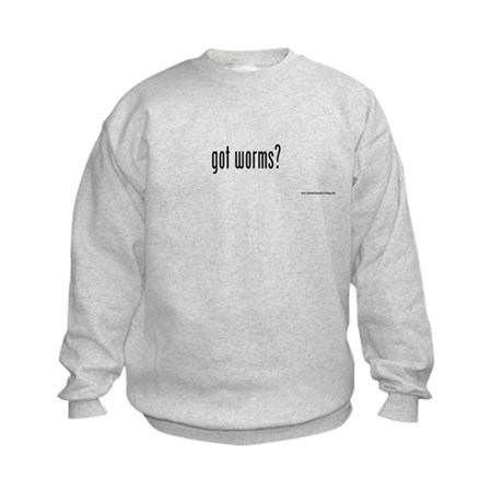 got worms? Kids Sweatshirt