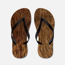 BEAR FUR Flip Flops