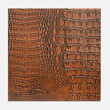 ALLIGATOR SKIN Tile Coaster