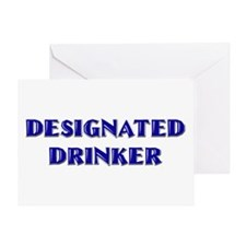 Designated Drinker 21st b-day Greeting Card