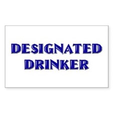 Designated Drinker 21st b-day Sticker (Rectangular