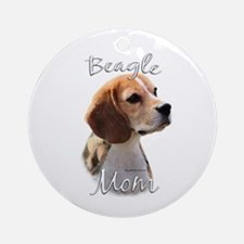 Beagle Mom2 Ornament (Round)