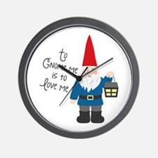 To Gnome Me Wall Clock
