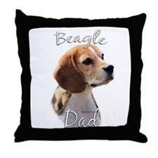 Beagle Dad2 Throw Pillow