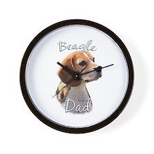 Beagle Dad2 Wall Clock
