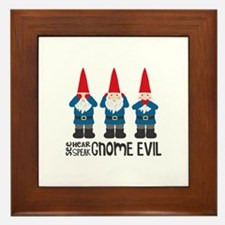 Gnomes No Evil Framed Tile