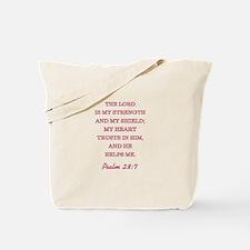 PSALM 28:7 Tote Bag
