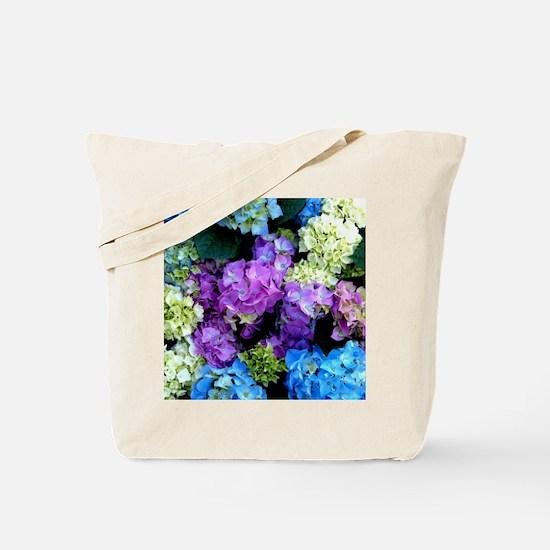 Colorful Hydrangea Bush Tote Bag