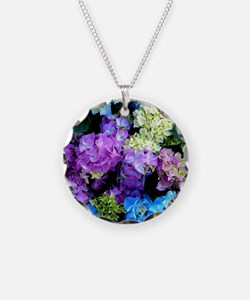 Colorful Hydrangea Bush Necklace