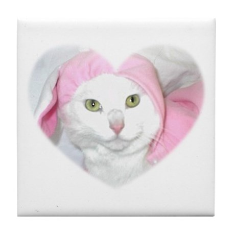 The Easter Kitty Tile Coaster