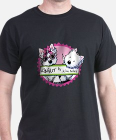 KiniArt Westies Badge T-Shirt