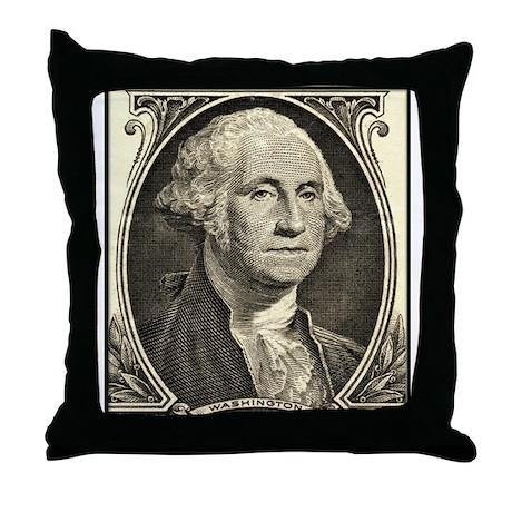 George Washington, $1 Portrait Throw Pillow