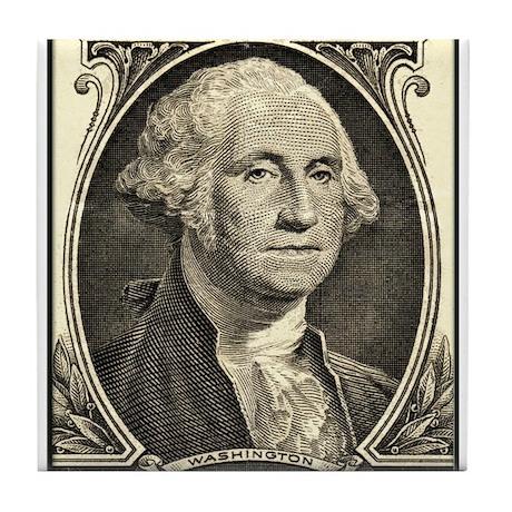 George Washington, $1 Portrait Tile Coaster
