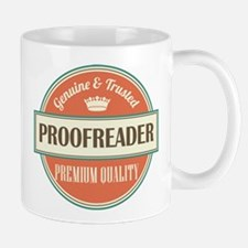 proofreader vintage logo Mug