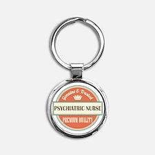 psychiatric nurse vintage logo Round Keychain