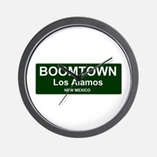 US CITIES - BOOMTOWN! - LOS ALAMOS - NE Wall Clock