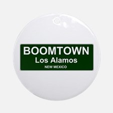 US CITIES - BOOMTOWN! - LOS ALAMOS Round Ornament