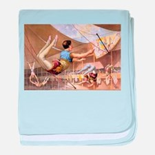 circus art baby blanket