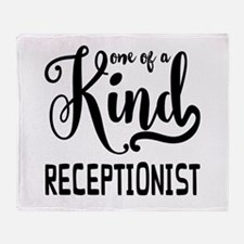 One of a Kind Receptionist Throw Blanket