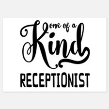 One of a Kind Receptionist 5x7 Flat Cards