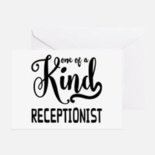 One of a Kind Receptionist Greeting Card