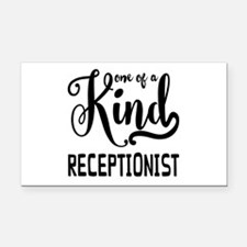 One of a Kind Receptionist Rectangle Car Magnet
