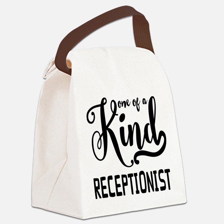 One of a Kind Receptionist Canvas Lunch Bag