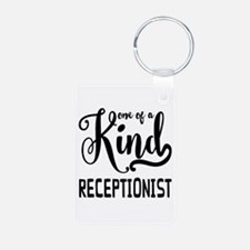 One of a Kind Receptionist Keychains