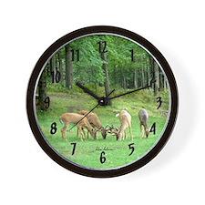 Whitetail Bucks Wall Clock
